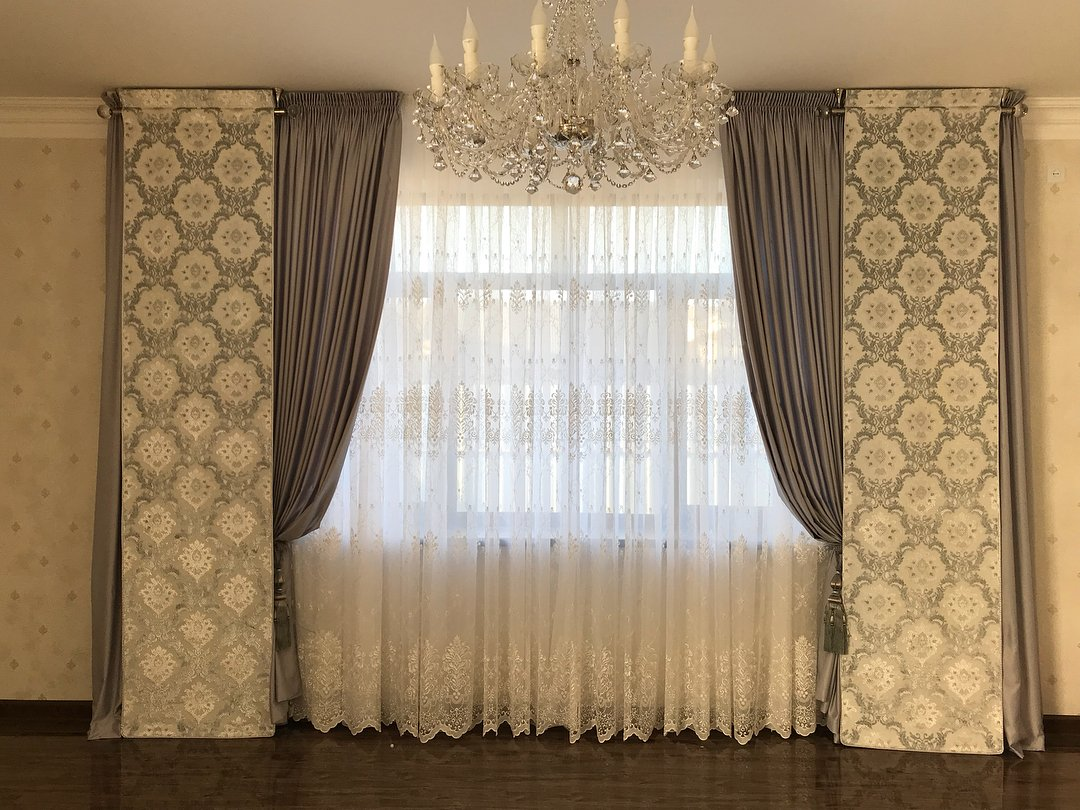 шторы в стиле наоклассика
