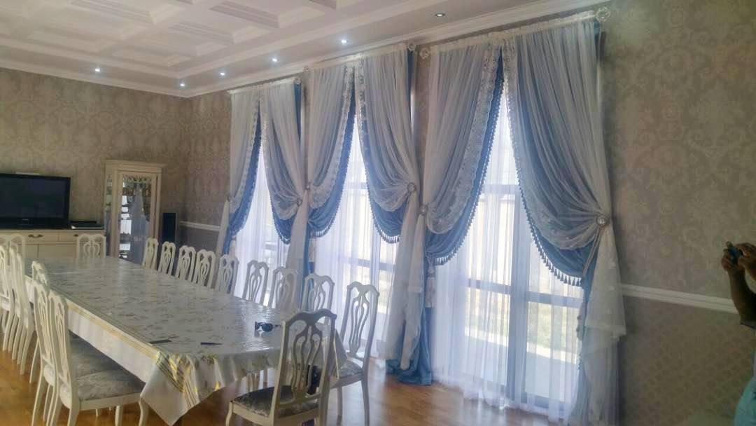 Дизайн и пошив штор для гостинных комнат