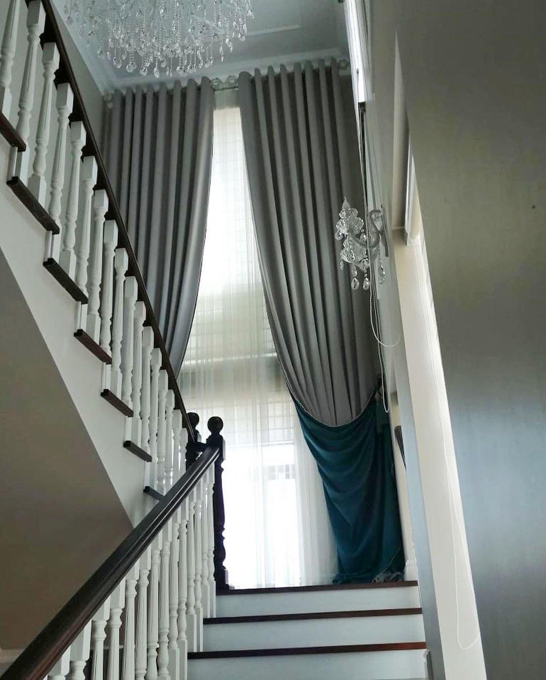 Дизайн и пошив штор. Оформление лестничных пролетов