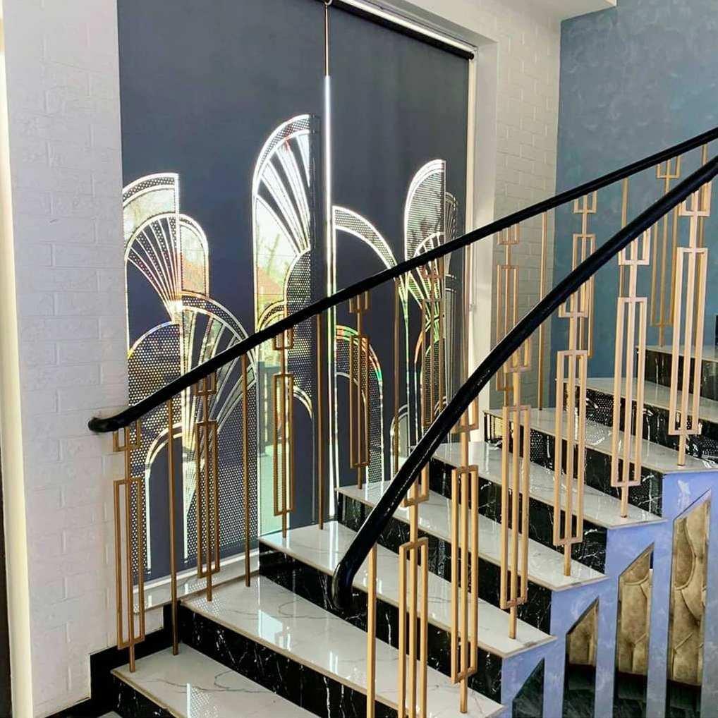 Дизайн перфорации для интерьера в стиле ар-деко.