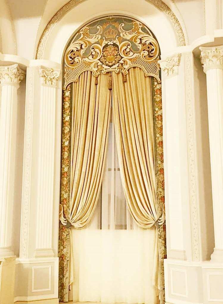 Текстильное оформление тойханы PARIS ROYAL HALL